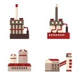set of icons plant building vector image