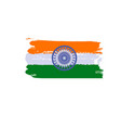 splash art india flag indian republic day vector image