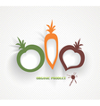 organic and farm fresh food badge and label vector image vector image