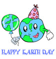 happy earth day world and balloon vector image
