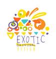 exotic logo original design summer vacation vector image vector image