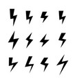 icon set of thunder bolts vector image