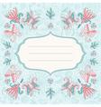 Beautiful holiday card vector image vector image
