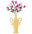 vase with flowers vector image vector image