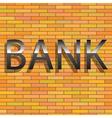 bank sign vector image