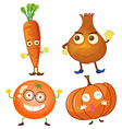 Vegetables with happy face vector image vector image