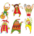 Circus Actor Set vector image