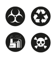 Industrial pollution icons vector image