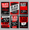 black friday sale advertising posters vector image