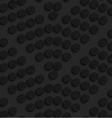 Black textured plastic dots forming chevron vector image