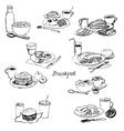 breakfasts set vector image