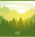 colorful poster forest background with sunrise vector image