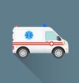 flat ambulance car icon vector image