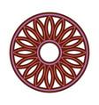 mandala retro culture icon vector image