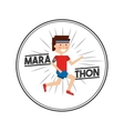 marathon competition design vector image