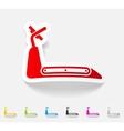 realistic design element treadmill vector image