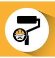 roller man worker construction design icon vector image