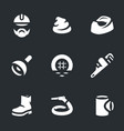 set of plumber icons vector image