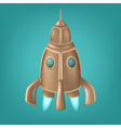 Old bronze rocket vector image