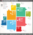 infographic design template colorful design 4 vector image