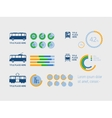 Transportation Infographic Elements vector image