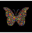 butterfly shape vector image vector image