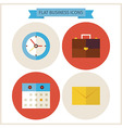 Flat Business Website Icons Set vector image vector image