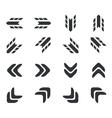 Arrow icon set 2 simple vector image