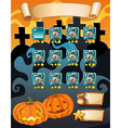 Computer game template with halloween theme vector image vector image