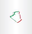 algeria map icon design vector image