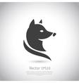 Stylized fox head icon vector image vector image