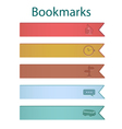 Bookmark icons river vector image