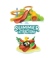 water hills on playground vector image