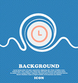 alarm icon sign Blue and white abstract background vector image