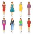 Fashion Evolution Icons Set vector image
