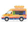 a cartoon food truck vector image