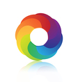 Abstract circle colorful 3d icon design vector image