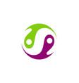circle balance yin yang abstract logo vector image