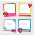 Decorative template frame vector image