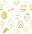 easter eggs gold seamless pattern vector image