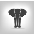 gray emblem of an elephant on a light background vector image