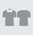 gray polo t shirt vector image