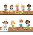 Kids In Cooking Class vector image