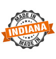 made in indiana round seal vector image