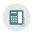 Office deskphone icon vector image