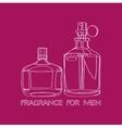 Set Fragrance for Men vector image