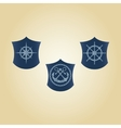 set of maritime symbols vector image