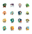 Different people characters icons set vector image