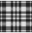 seamless black white tartan with squares stripes vector image