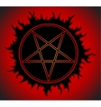Black Pentagram icon vector image vector image
